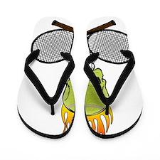 tennis_skull Flip Flops