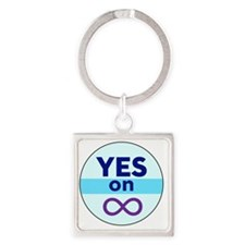 Yes_On_Inf Square Keychain