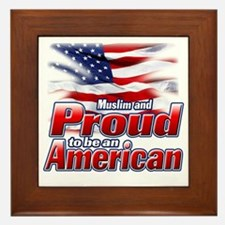 Muslim and Proud to be an American Framed Tile