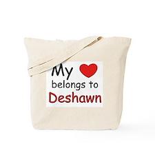 My heart belongs to deshawn Tote Bag