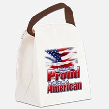 Christian and Proud to be an Amer Canvas Lunch Bag