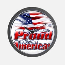 Republican and Proud to be an American Wall Clock