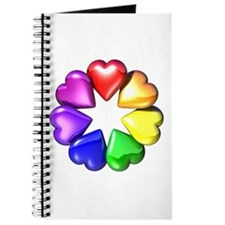 Rainbow Ring Hearts Journal