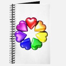 Rainbow Ring Hearts Journal