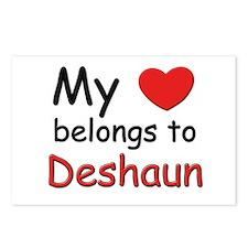 My heart belongs to deshaun Postcards (Package of