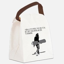 Snowboarder Canvas Lunch Bag