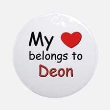 My heart belongs to deon Ornament (Round)