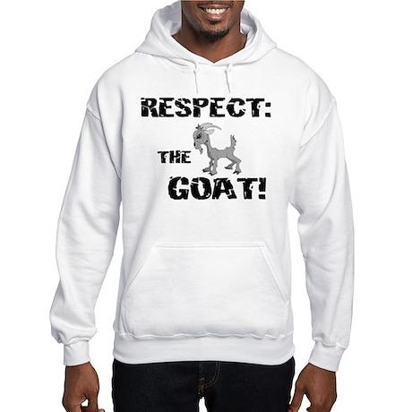 RESPECT the GOAT for Men Hooded Sweatshirt