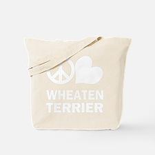 FIN-peace-love-wheaten-terrier-WonB Tote Bag