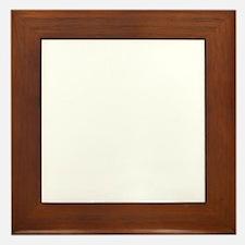 FIN-peace-love-wheaten-terrier-WonB Framed Tile
