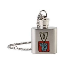 2-dogtag_and_chain_with_keyring_bag Flask Necklace