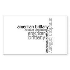 American Brittany Multi Rectangle Decal