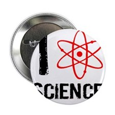 """I heart science-1 2.25"""" Button"""