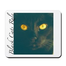 Dangerously Beautiful Black Cat Mousepad