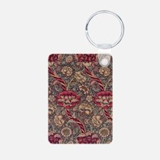Art Nouveau Wine Floral Aluminum Photo Keychain