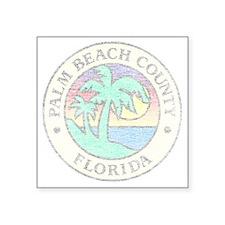 "Vintage Palm Beach County Square Sticker 3"" x 3"""