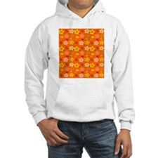 Orange Floral Pop Art by Khoncep Hoodie