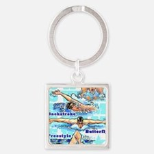 ASwimBoys Square Keychain