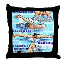 ASwimBoys Throw Pillow