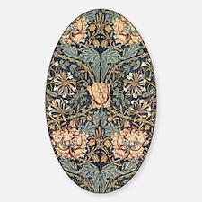 Art Nouveau Blue Vines Sticker (Oval)
