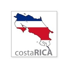 "2-costarica Square Sticker 3"" x 3"""