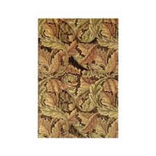 Art Nouveau Autumn Leaves Rectangle Magnet