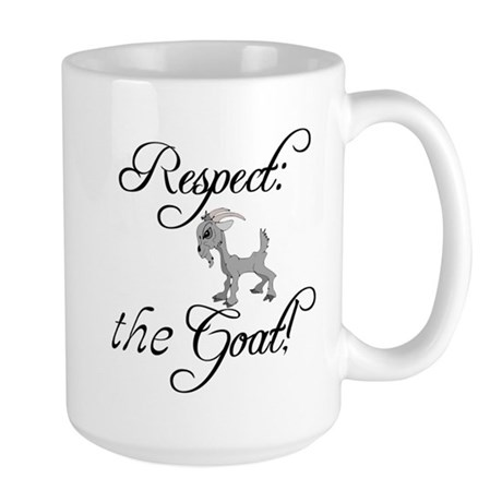RESPECT the GOAT for Women Large Mug