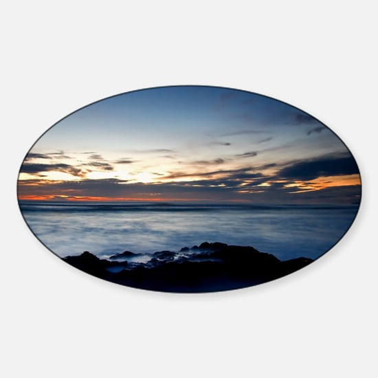 1823-star-sunset-mvmt-aw-27 Sticker (Oval)