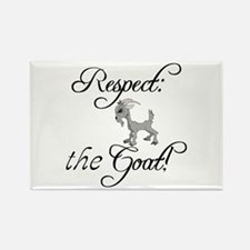 RESPECT the GOAT for Women Rectangle Magnet