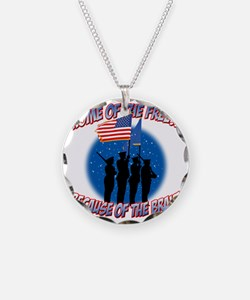 Home of the Free Because of  Necklace