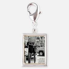 r53-large Silver Portrait Charm