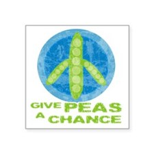 "peasChance Square Sticker 3"" x 3"""