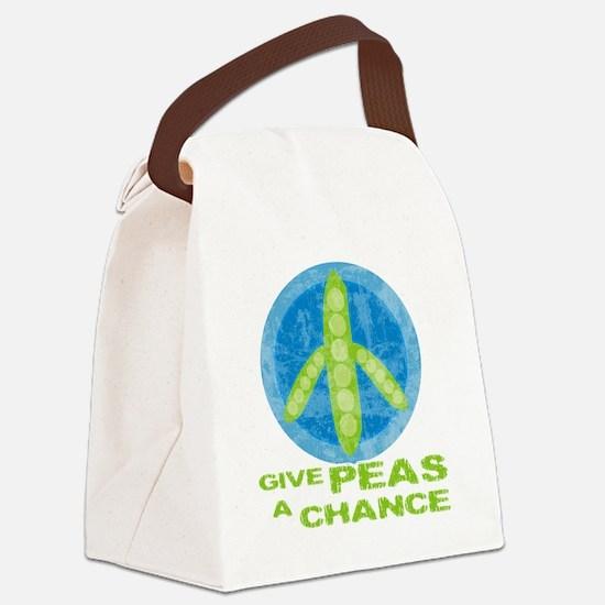 peasChance Canvas Lunch Bag