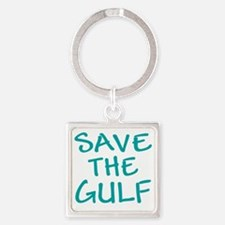 Save the Gulf (abc shopping) Square Keychain