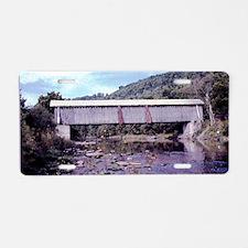 Van Tran Flat Covered Bridg Aluminum License Plate