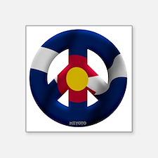 "Colorado Square Sticker 3"" x 3"""