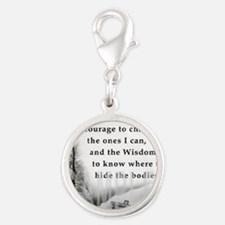 2-TWUSTED SERENITY Silver Round Charm