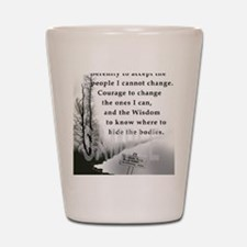 2-TWUSTED SERENITY Shot Glass