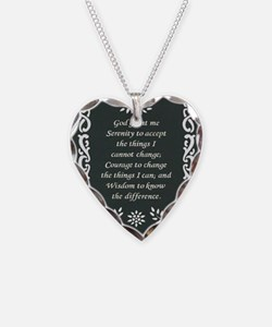 SERENITY POSTER Necklace Heart Charm