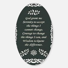 SERENITY POSTER Sticker (Oval)