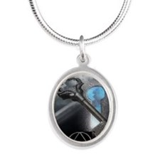 aa soluti0ns Silver Oval Necklace