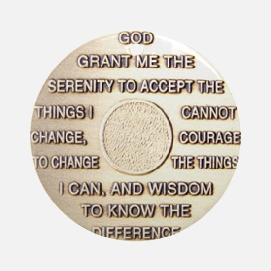 COIN SERENITY Round Ornament