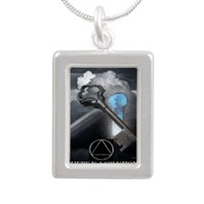 aa soluti0ns Silver Portrait Necklace