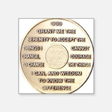 "COIN SERENITY Square Sticker 3"" x 3"""