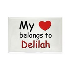 My heart belongs to delilah Rectangle Magnet