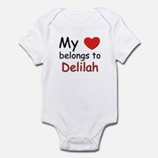 My heart belongs to delilah Infant Bodysuit