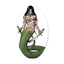 Naga10x10 Oval Car Magnet