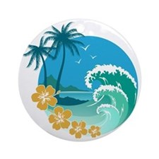 Beach1 Round Ornament