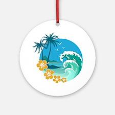 Beach1 Round Ornament