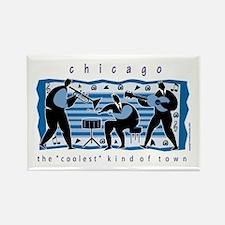 Chicago Musicians Rectangle Magnet
